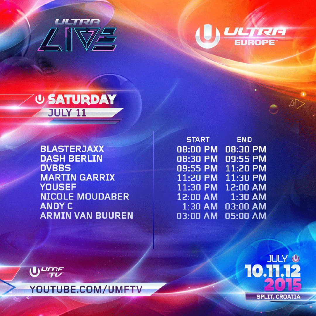 ULTRA LIVE Unveils Stream Times for Day 2 of ULTRA Europe