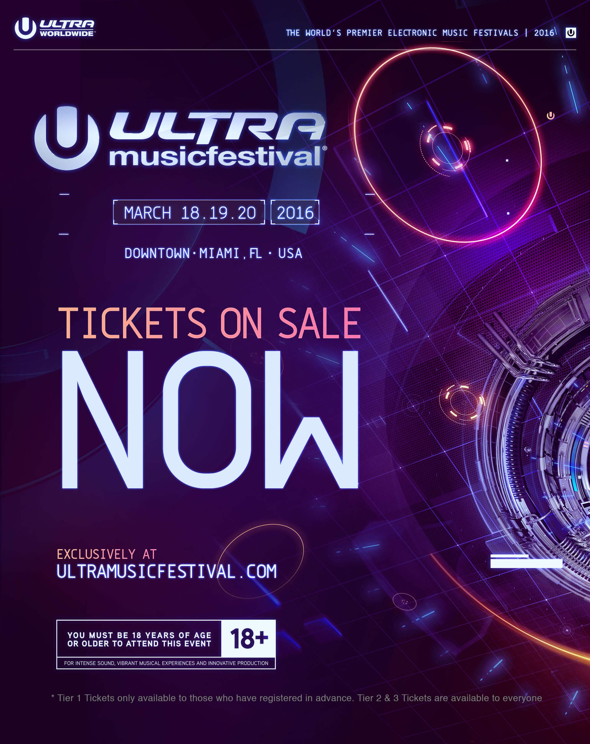 Tickets For Ultra Music Festival 2016 On Sale Now