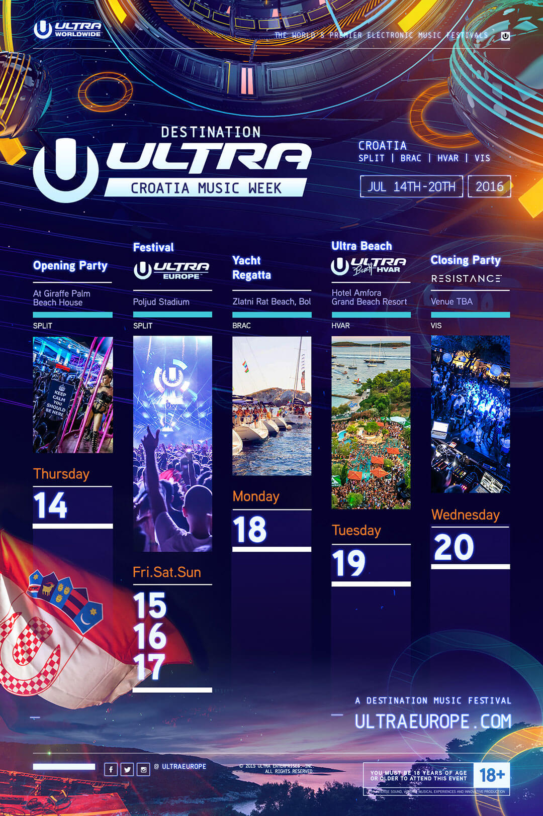 Ultra Europe Presents: 'Destination UItra – Croatia Music Week'