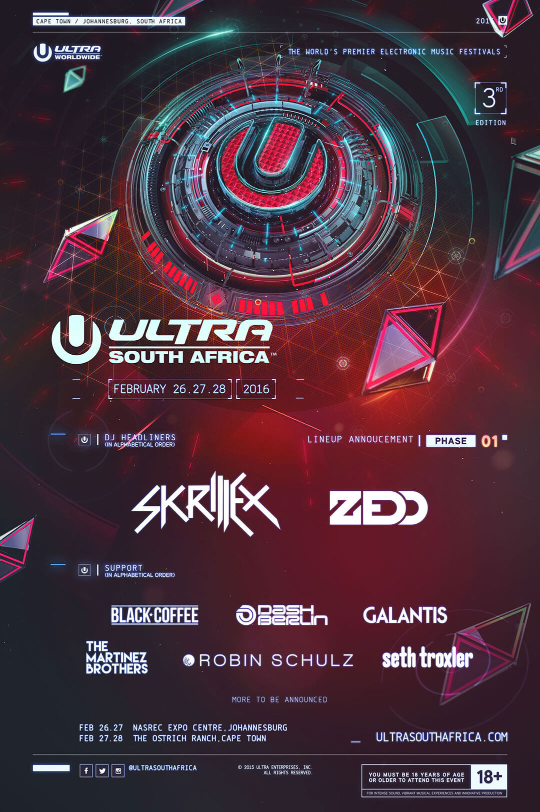 Ultra South Africa Announces Massive Phase One Lineup