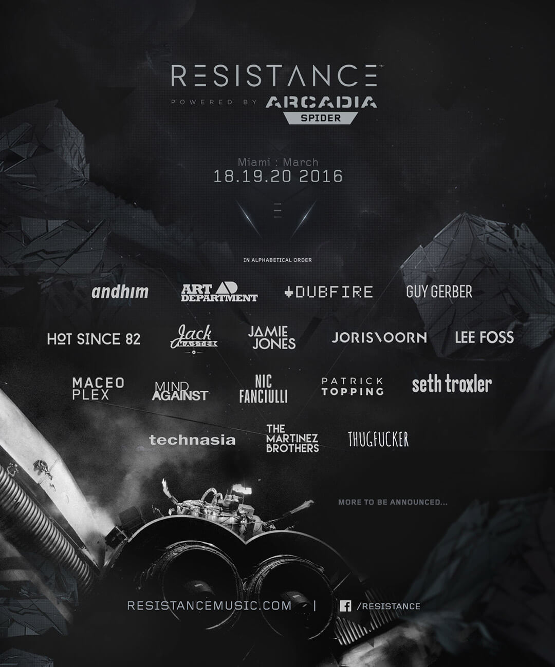 Resistance Miami Phase One Lineup Announced