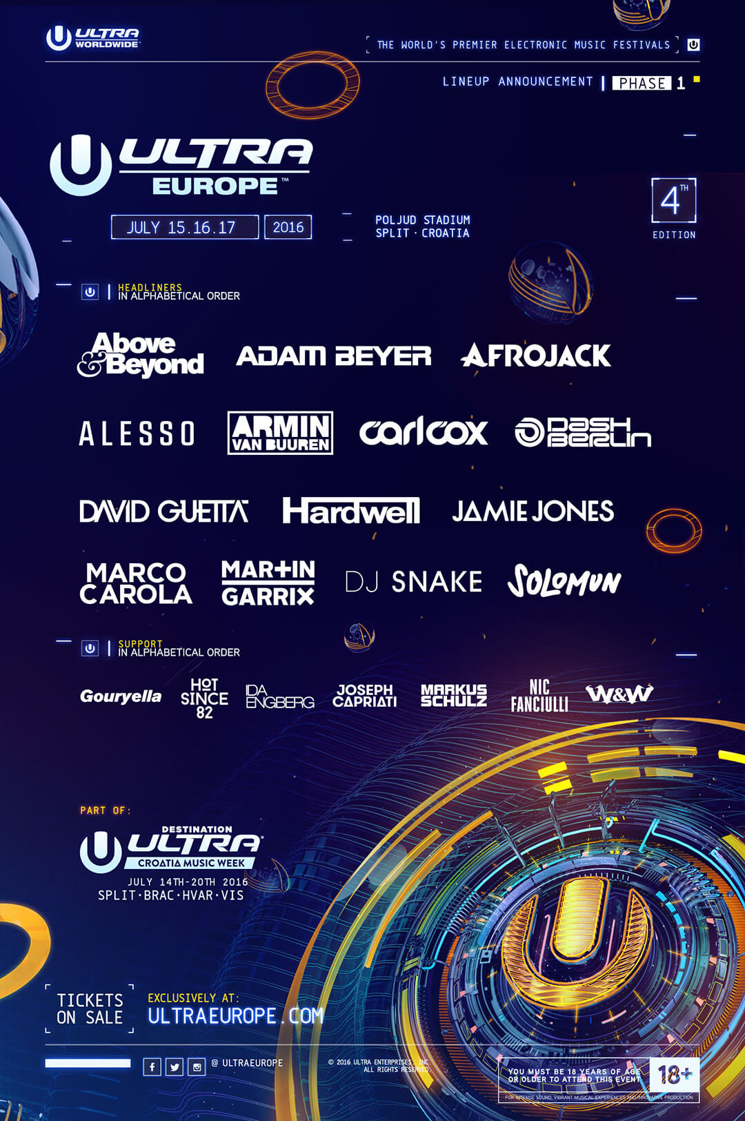 Ultra Europe's Phase One Lineup Is Here!