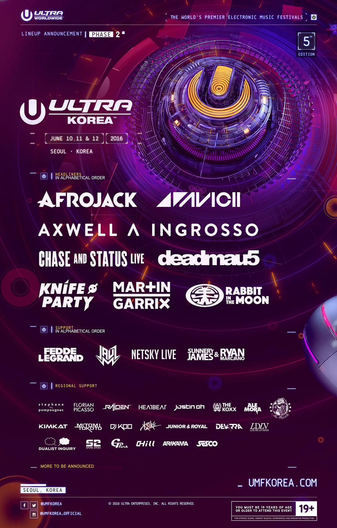 Ultra Korea Announces Phase 2 Lineup