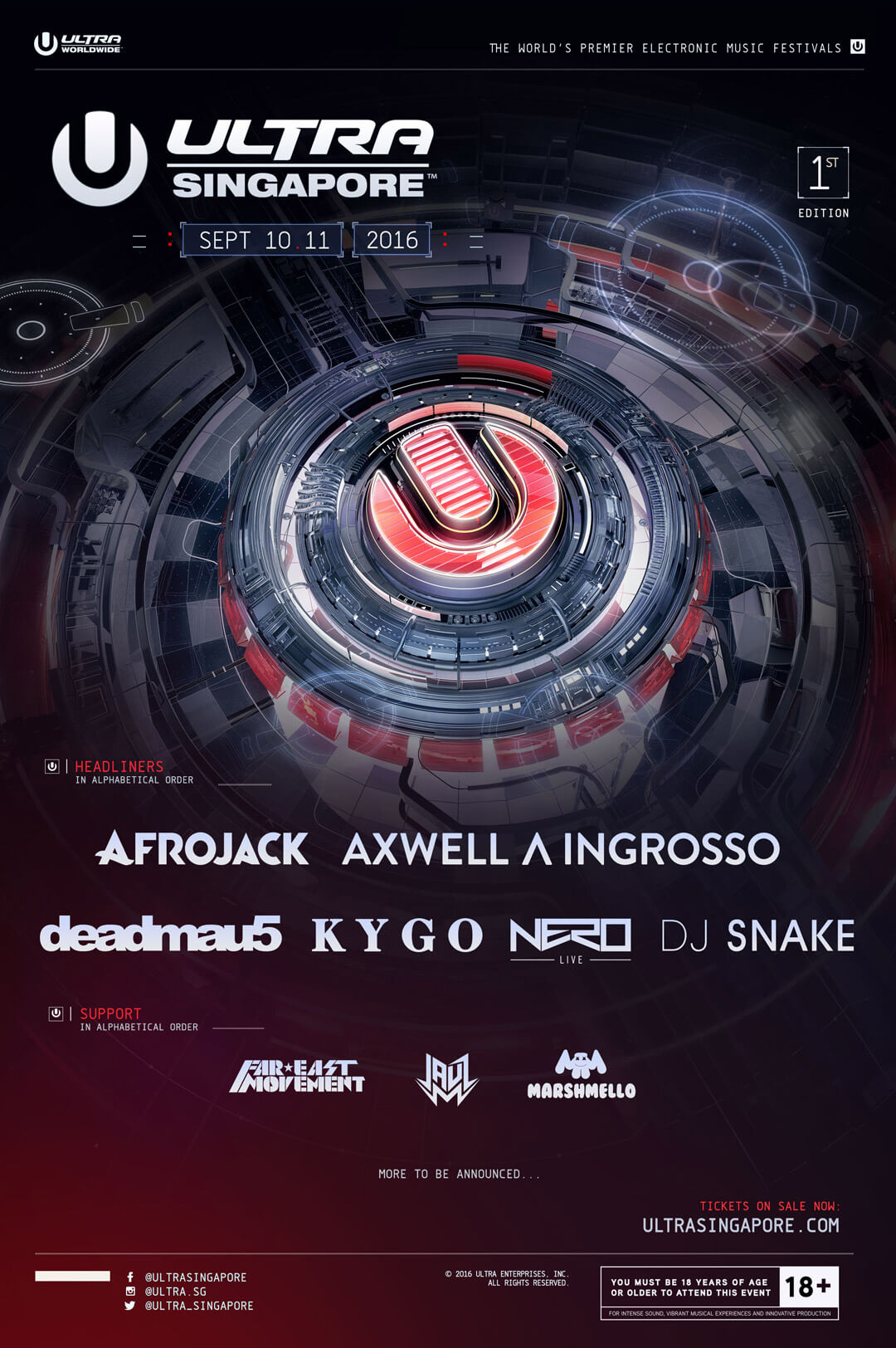 ULTRA Singapore Announces Massive Phase One Lineup