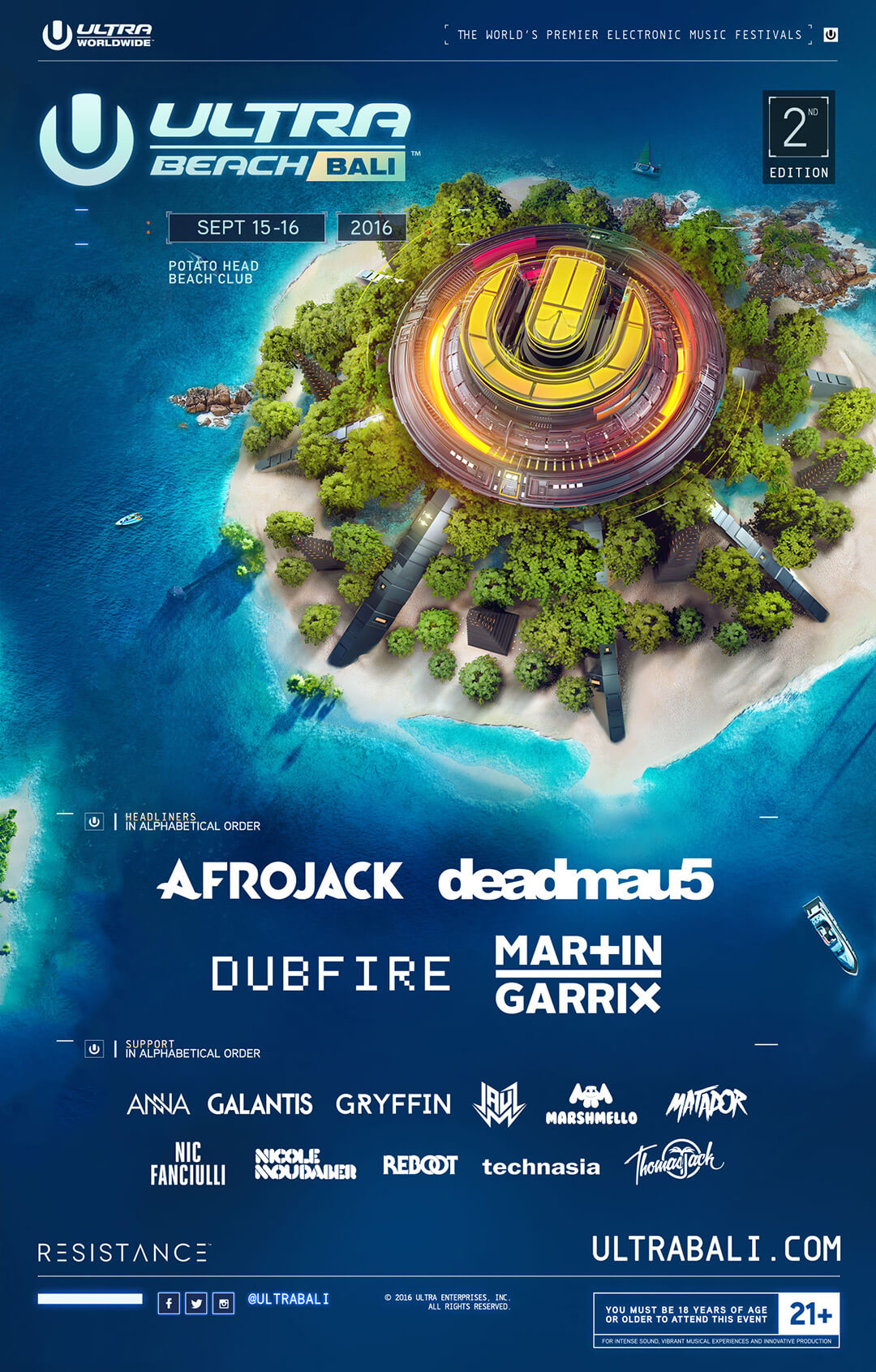 ULTRA Worldwide Announces Phase One Lineup for Bali, Philippines, Taiwan