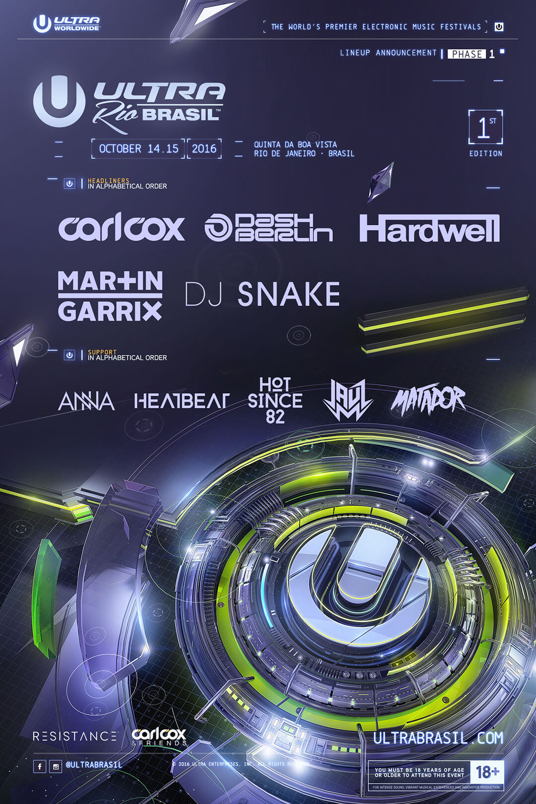 ULTRA Brasil Announces Full Phase One Lineup