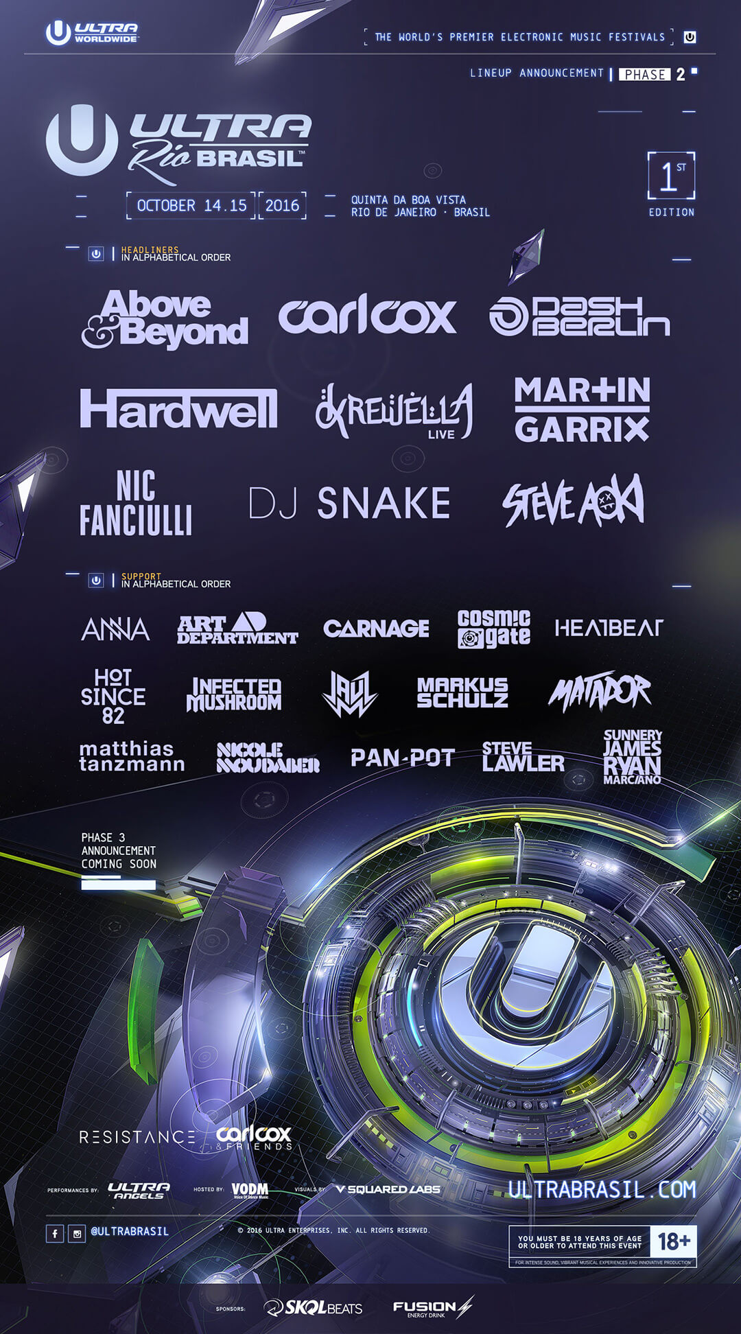 ULTRA Brasil Announces Full Phase Two Lineup