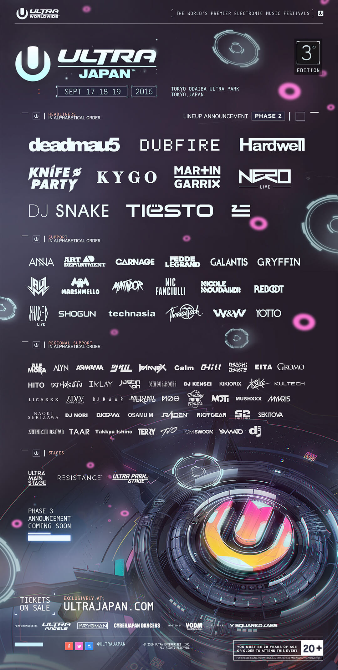 ULTRA Japan Announces Phase Two Lineup
