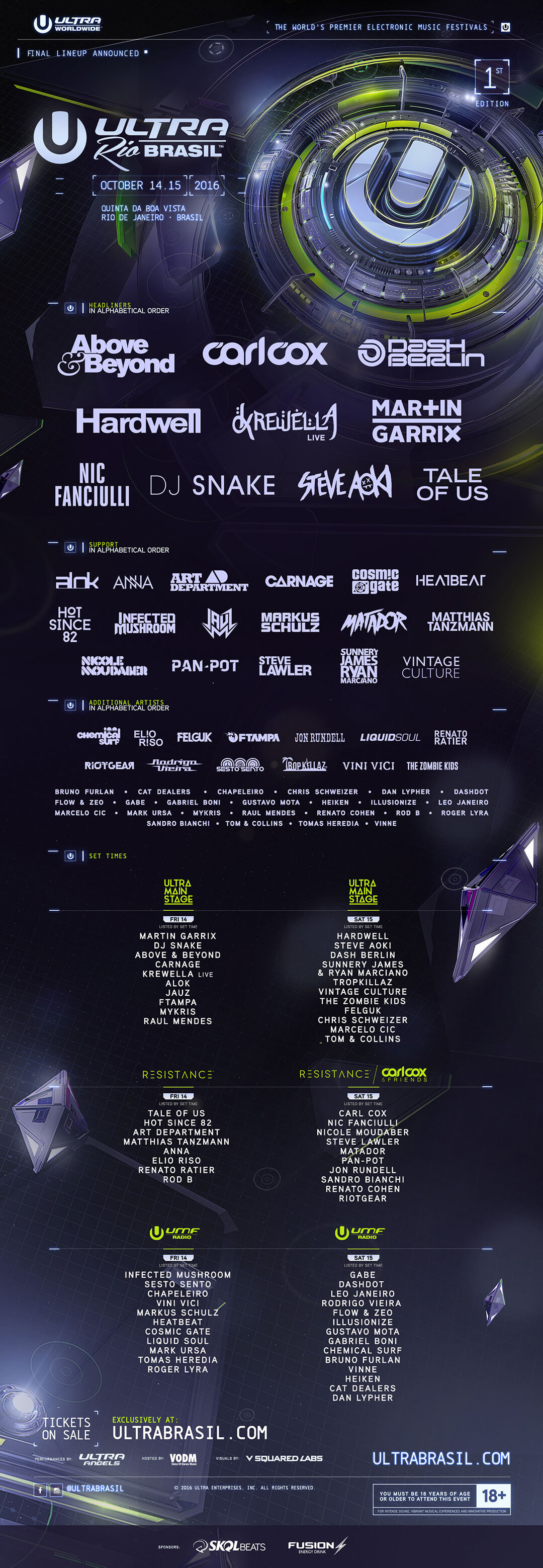 ULTRA Brasil Unveils Full Lineup