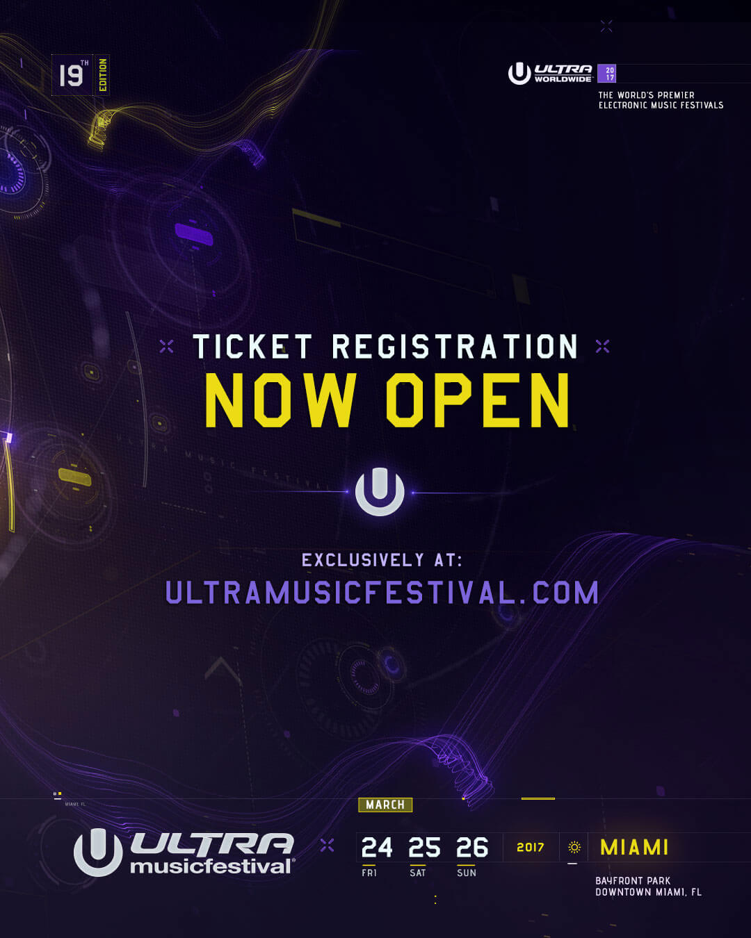 Ultra Music Festival 2017 Ticket Registration Now Open!