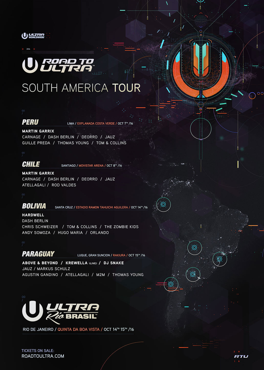 ULTRA Worldwide Releases Lineups for Road to Ultra Peru, Chile, Bolivia and Paraguay