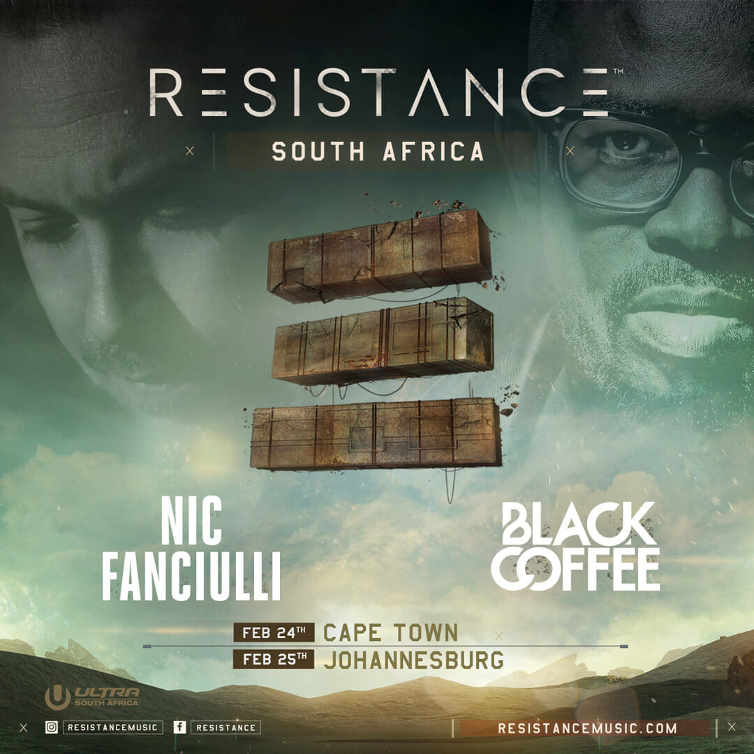 Nic Fanciulli and Black Coffee to Headline RESISTANCE at ULTRA South Africa 2017