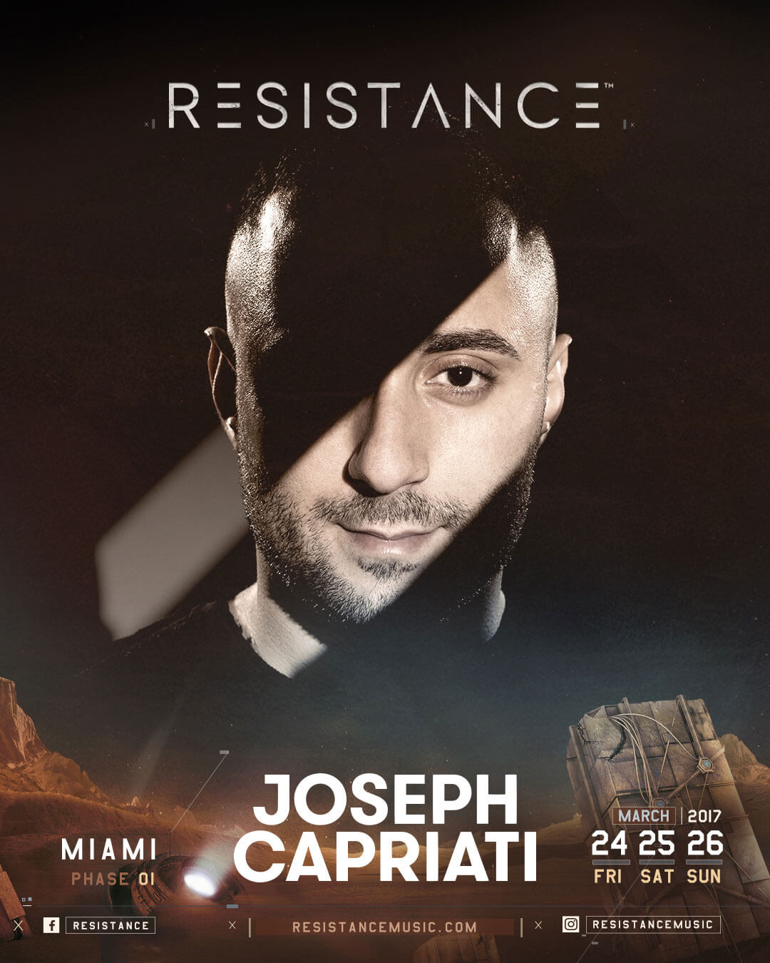 Joseph Capriati Releases New Studio Mix in Time For Resistance MegaStructure Performance