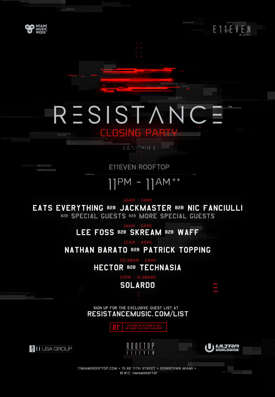 RESISTANCE Closing Party Announced