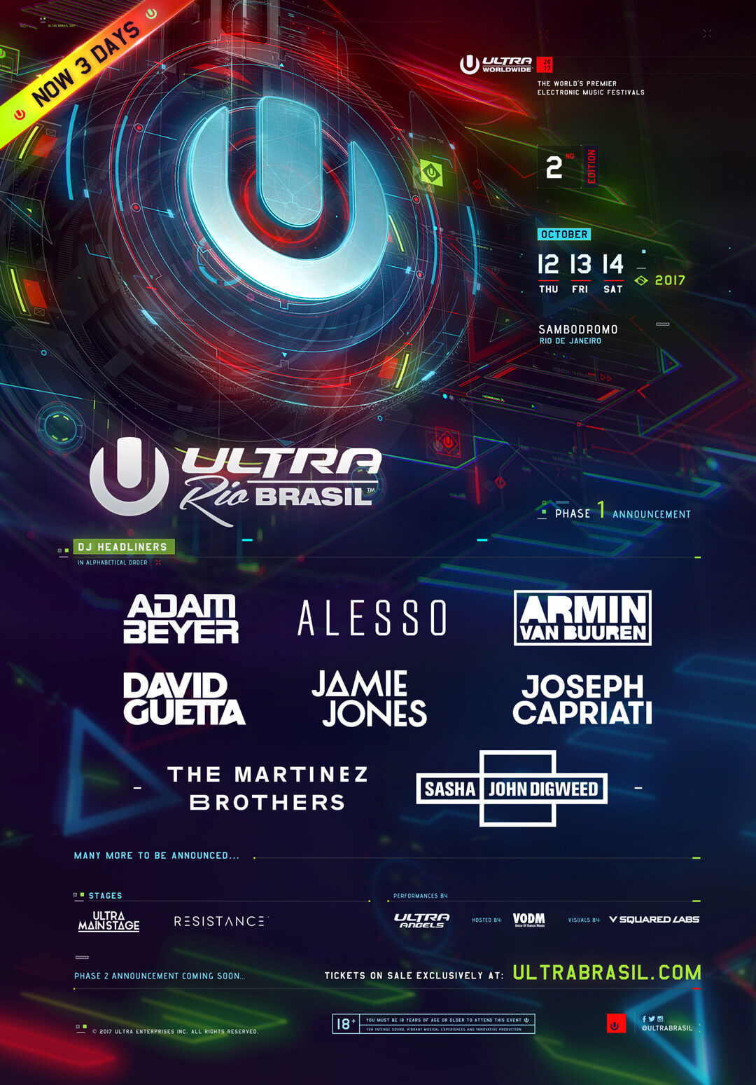 ULTRA Brasil Reveals Phase One Lineup