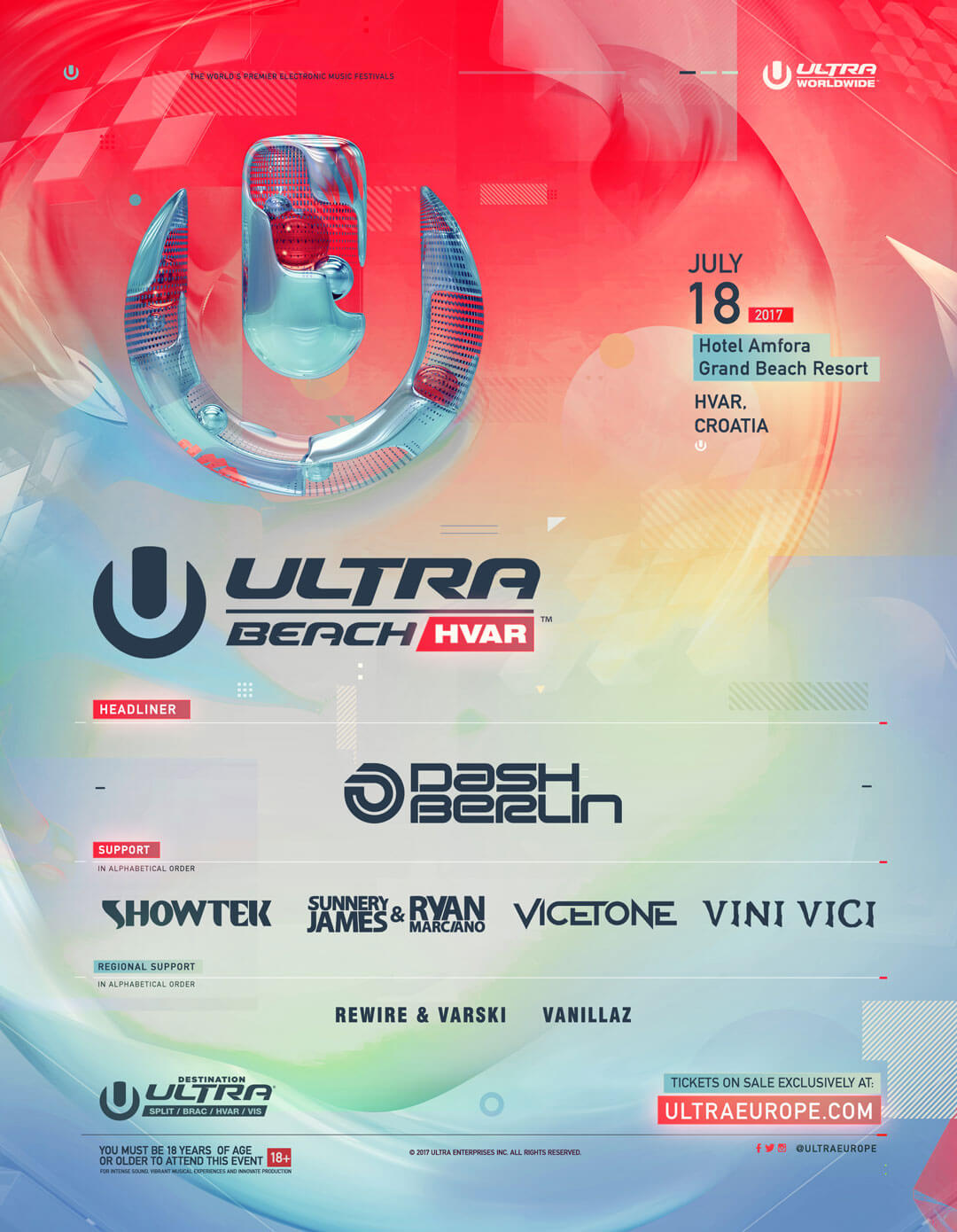 ULTRA Beach Hvar 2017 Announces Lineup