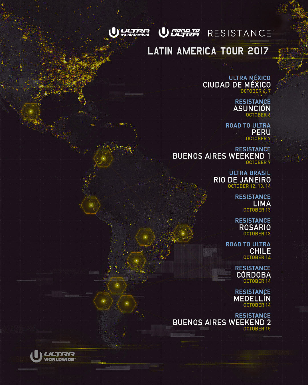 RESISTANCE Announces Historic Nine-Stop Tour of Latin America