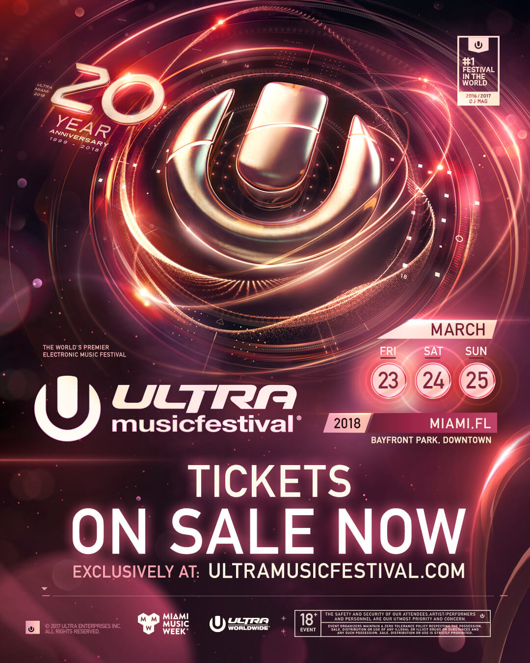 Tickets for ULTRA Music Festival's 20th Anniversary on Sale Now