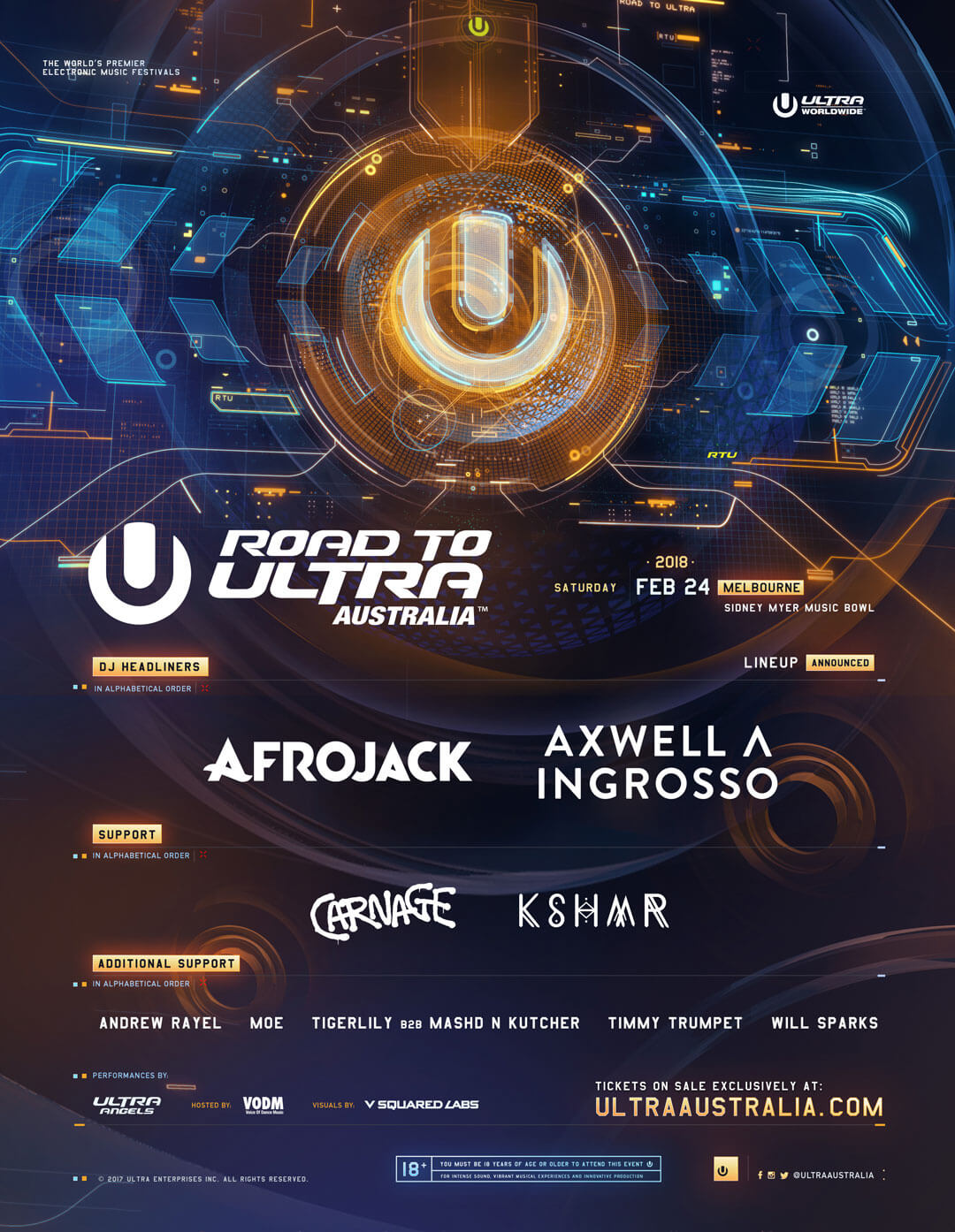 Afrojack and Axwell Λ Ingrosso To Headline Inaugural Road to ULTRA Australia