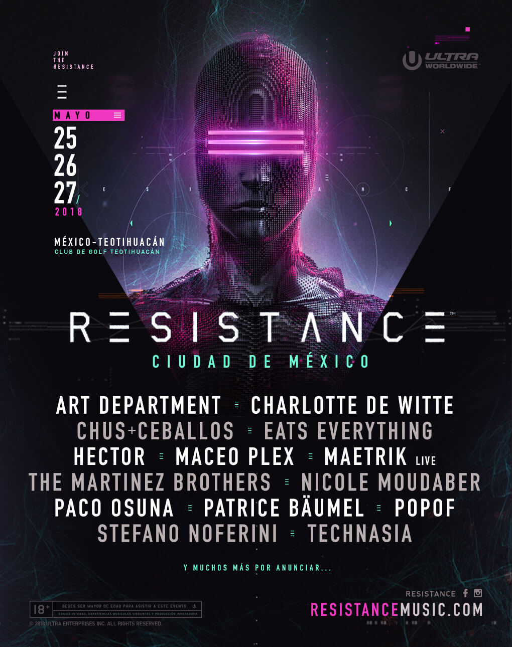 ULTRA Worldwide Announces RESISTANCE Mexico City Lineup