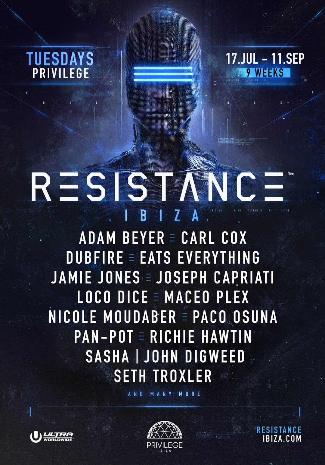 Resistance Ibiza Announces Headliners Promises Biggest Production Posted On December 17 2009 By Adam Beyer Carl Cox Dubfire Eats Everything Jamie Jones Joseph Capriati Loco Dice Maceo Plex Nicole Moudaber Paco Osuna Pan Pot Richie Hawtin