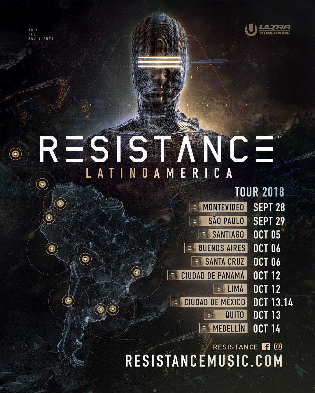 RESISTANCE Reveals Dates for 10-Stop Latin American Tour