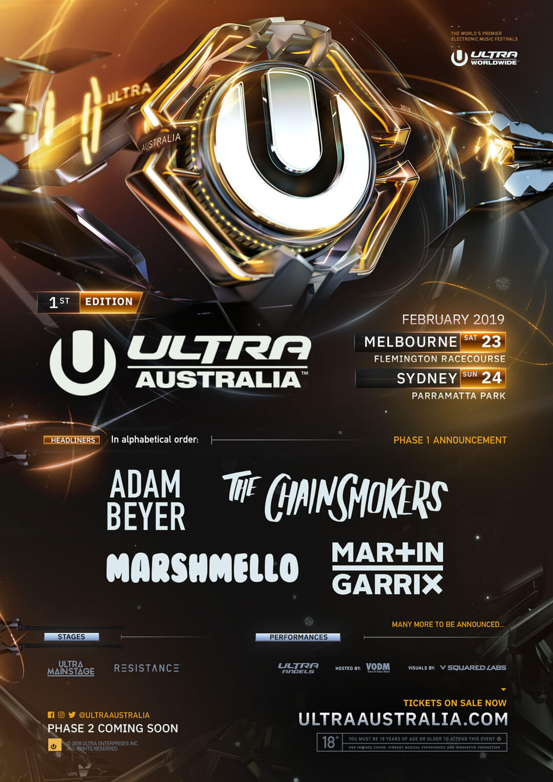 ULTRA Australia Announces Phase One Lineup