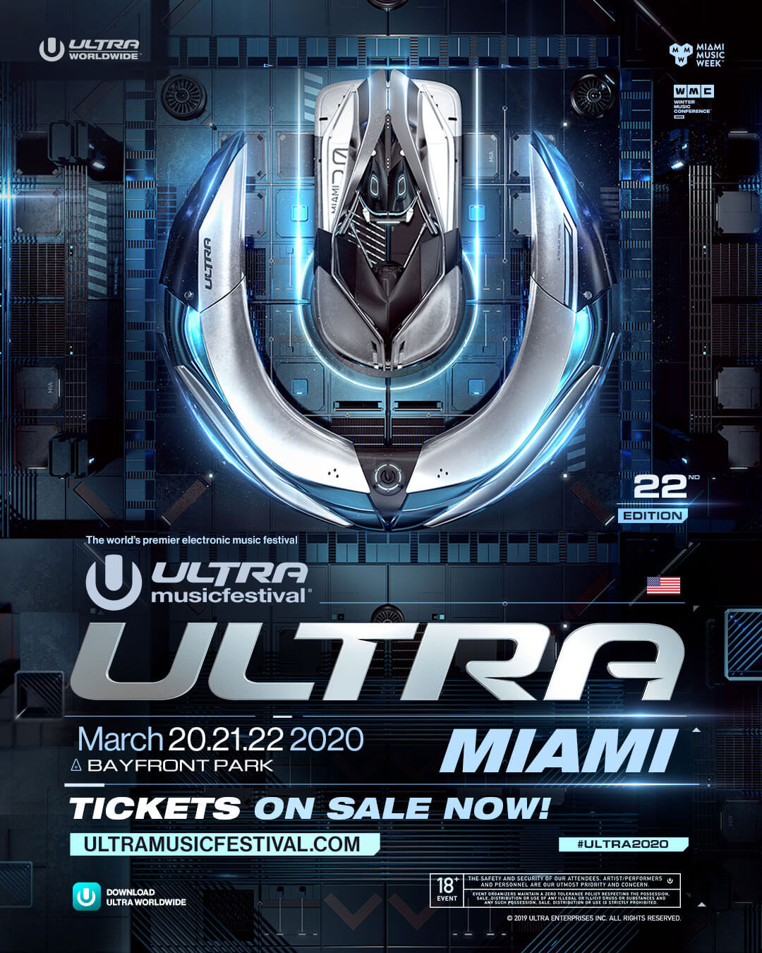 Limited Tickets On Sale for ULTRA Music Festival 2020