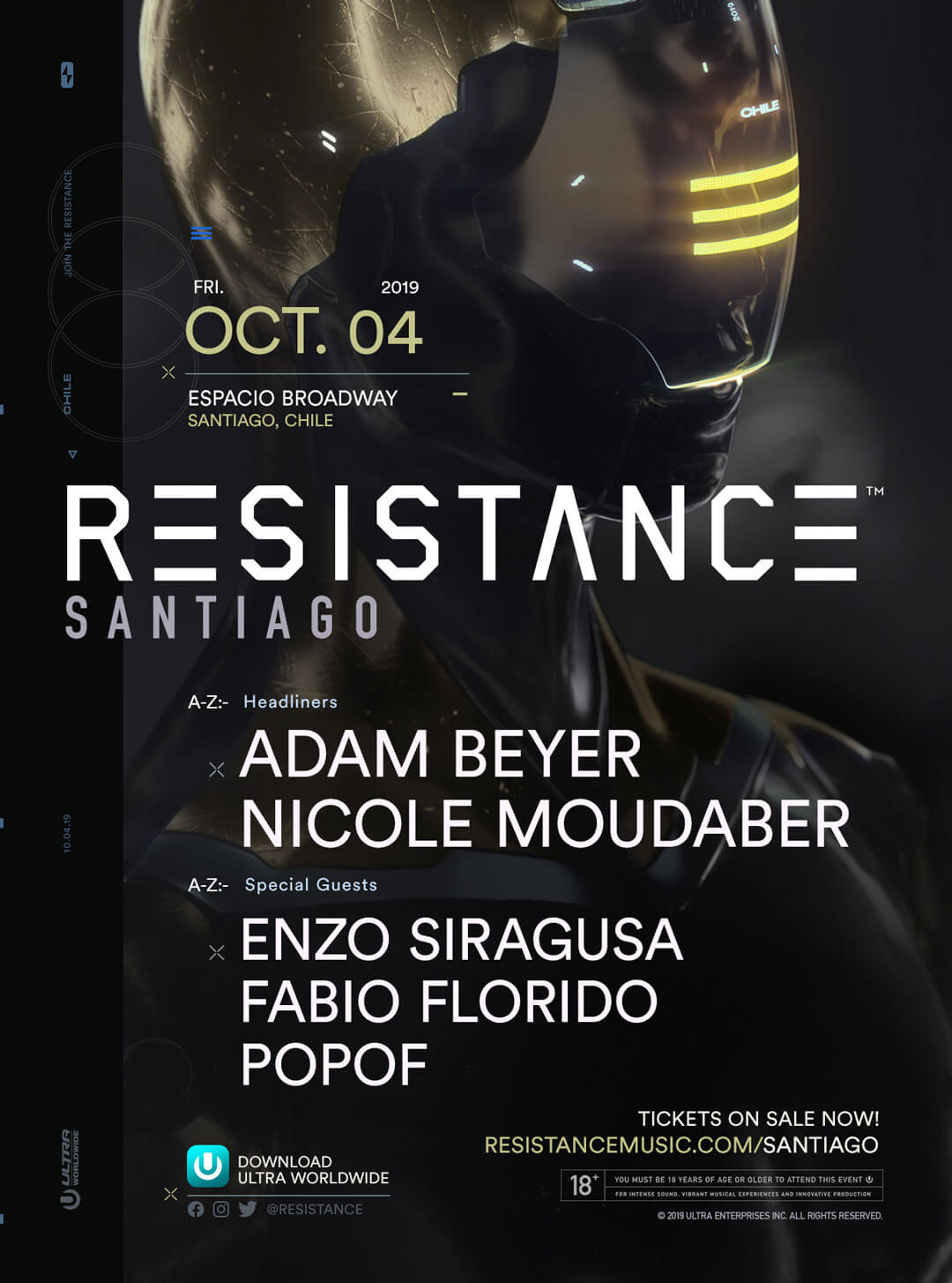 Adam Beyer and Nicole Moudaber to Headline RESISTANCE Santiago