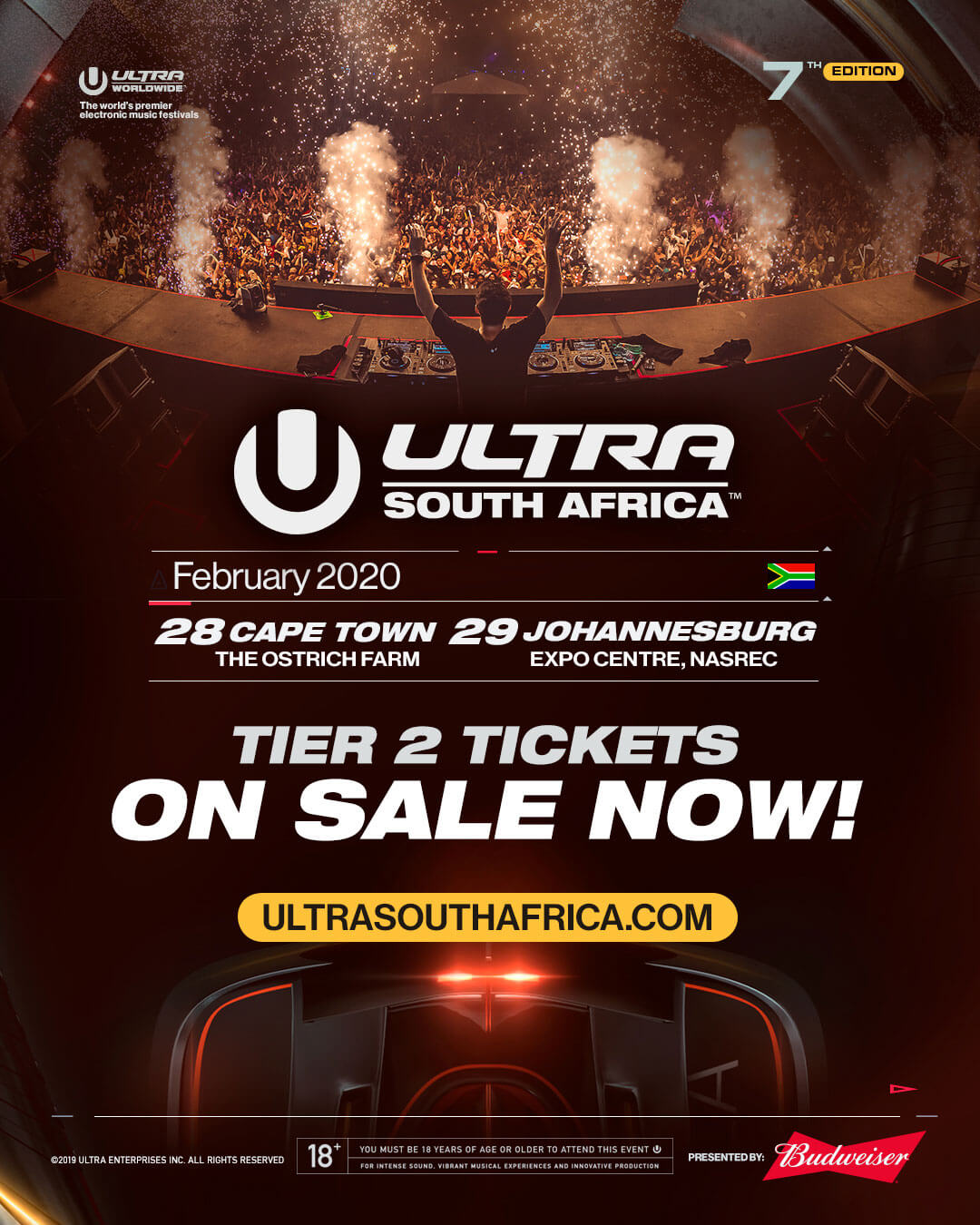 Tickets On Sale for ULTRA South Africa 2020