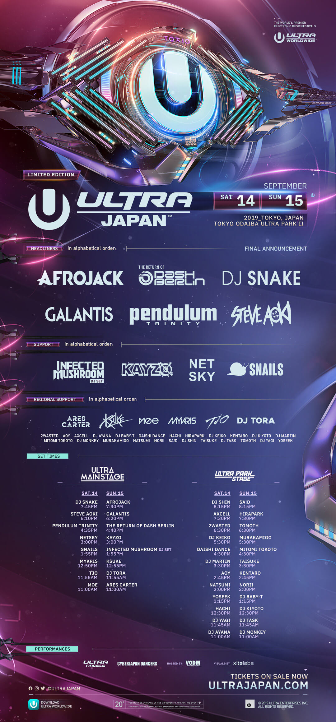 ULTRA Japan Releases Set Times