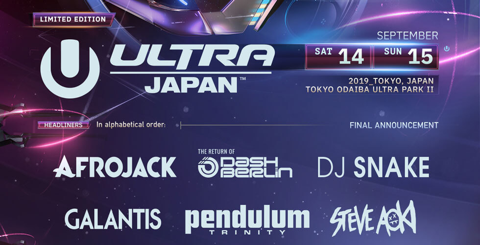 Ultra Japan 2019 Set Times