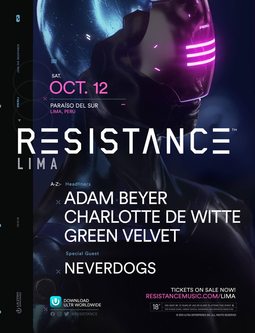 RESISTANCE Lima Announces Stellar Lineup