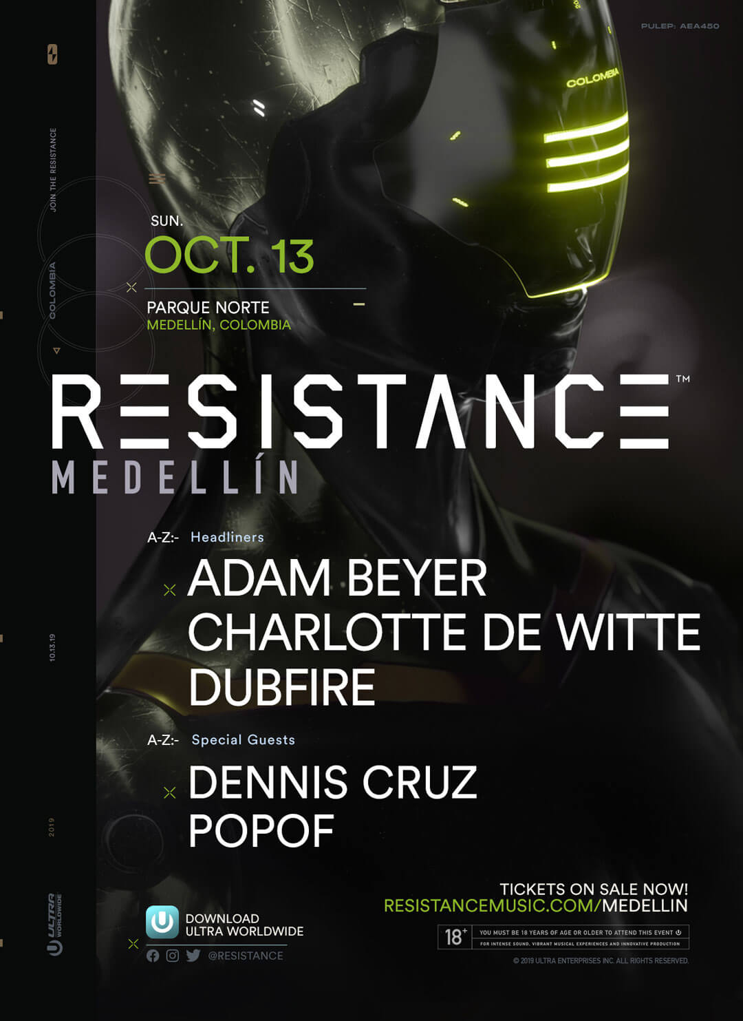 RESISTANCE Medellín Announces High-Energy Lineup