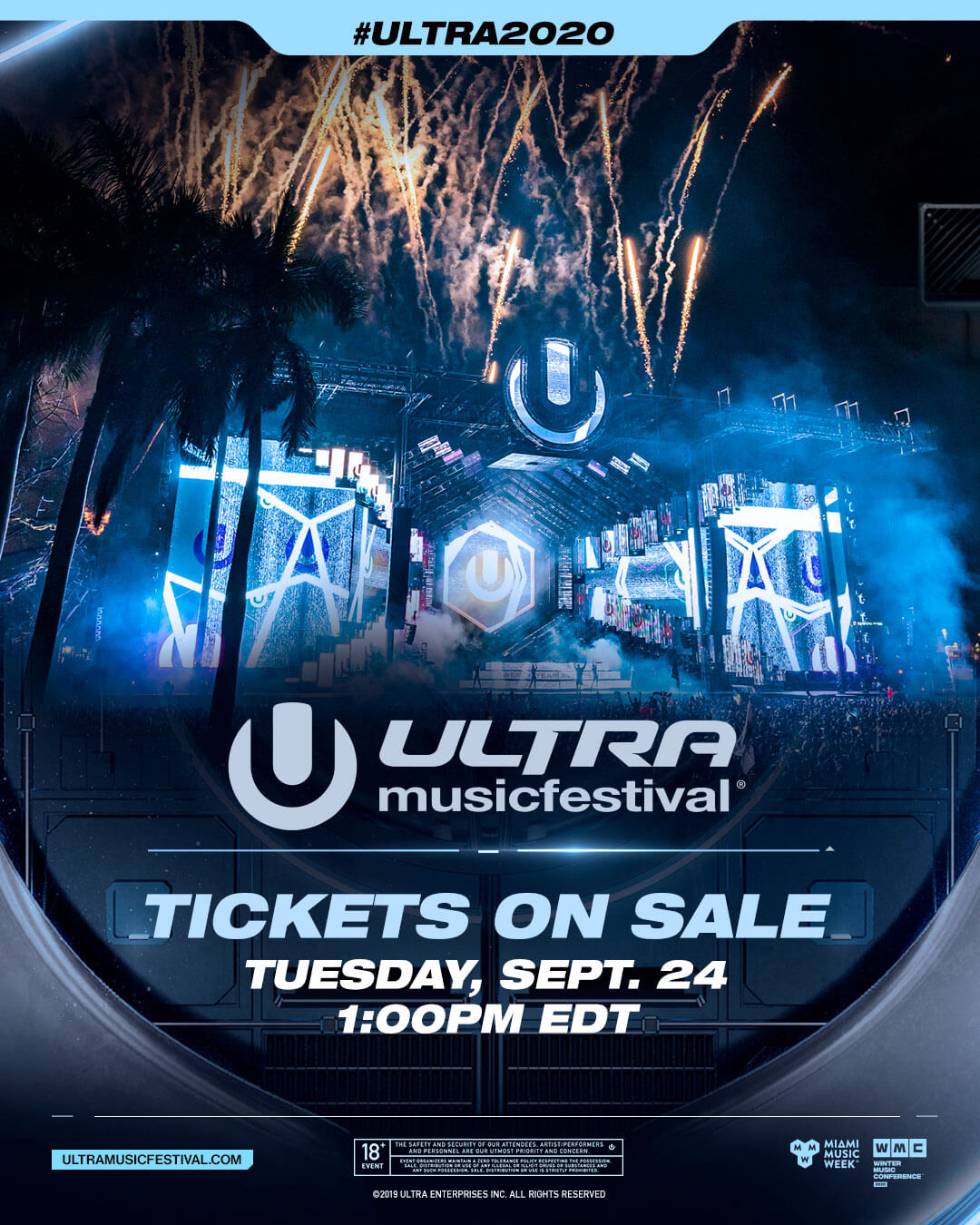 ULTRA Music Festival 2020 Tickets On Sale September 24