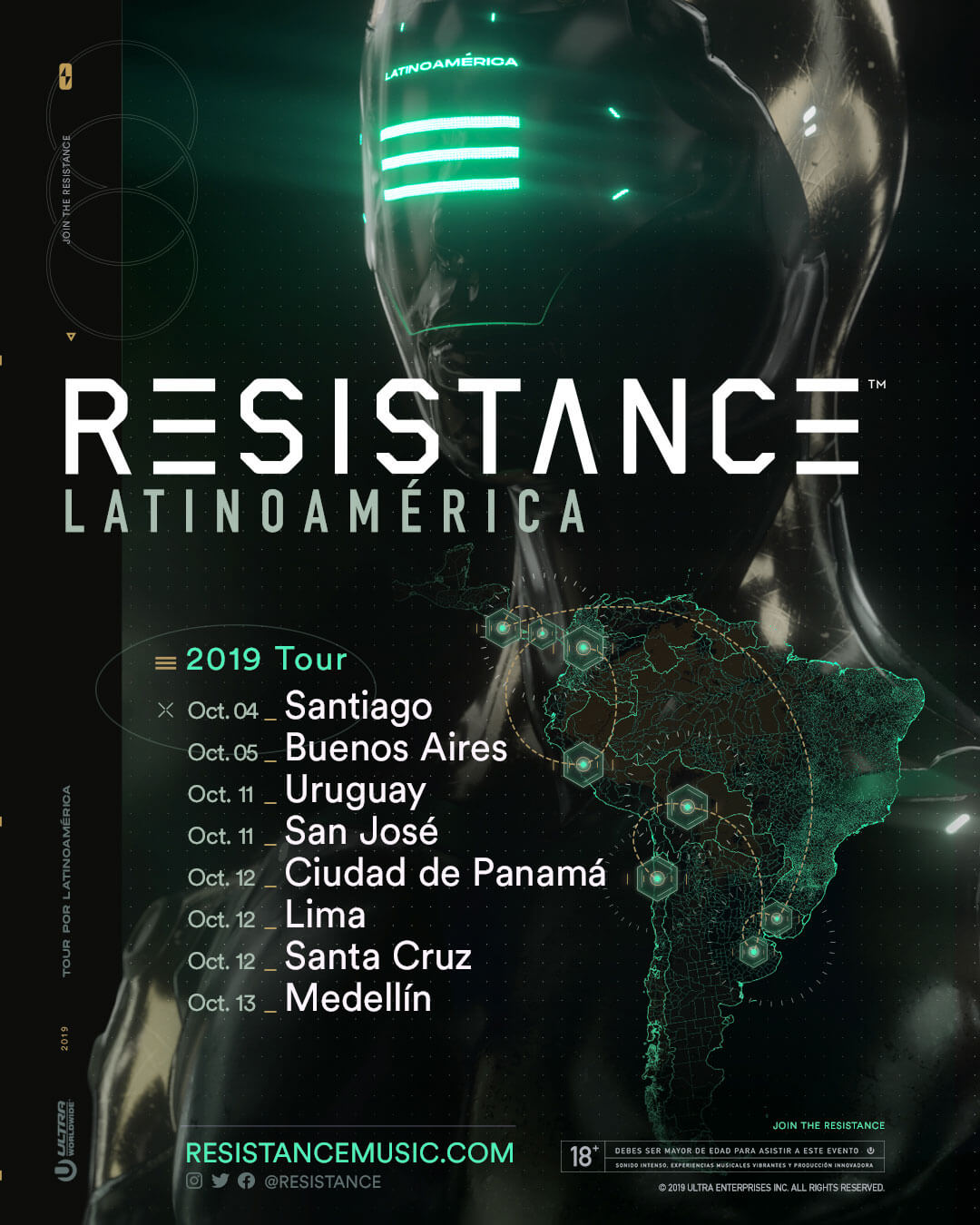 RESISTANCE Closes in on 8-City Latin America Tour