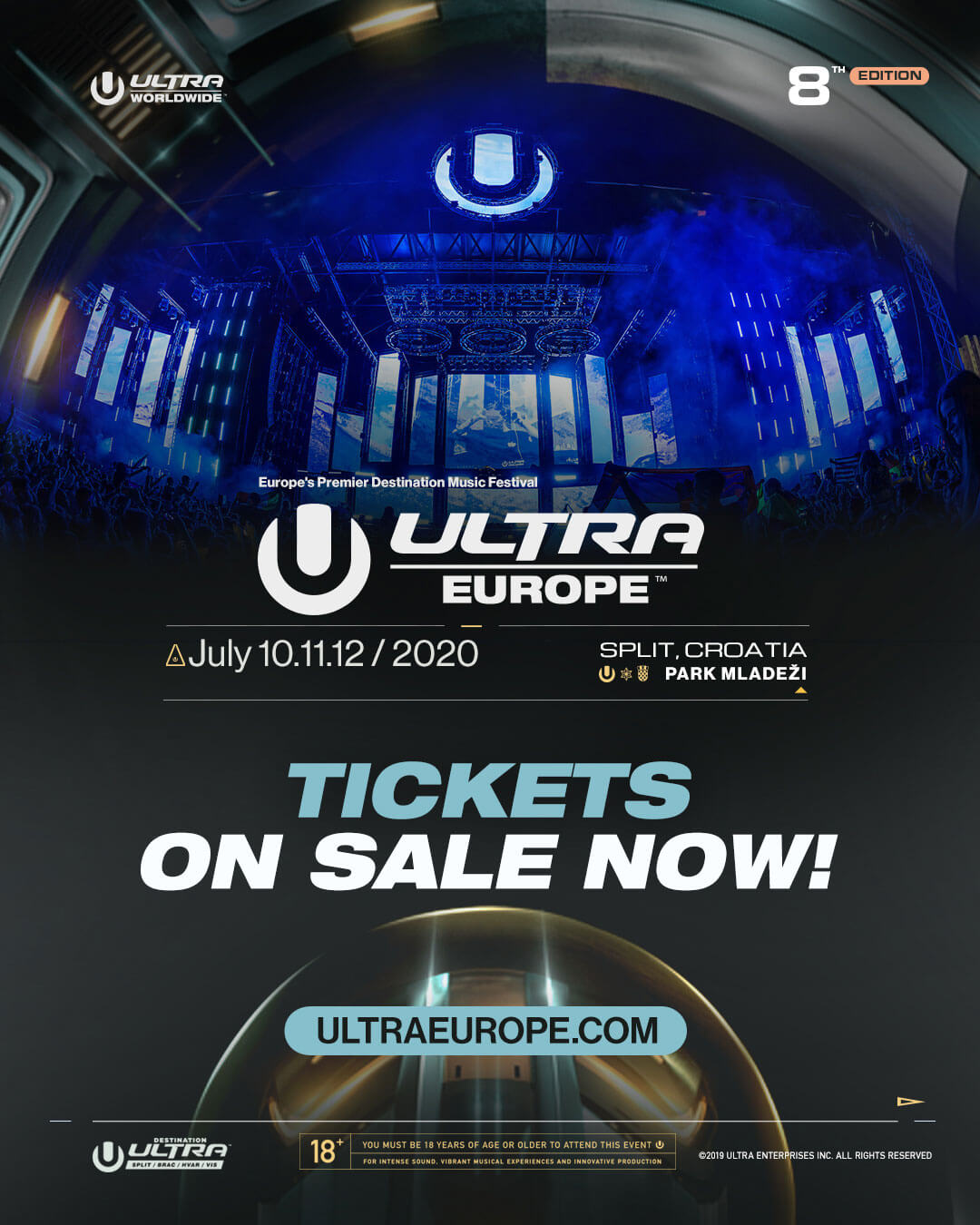 Ultra Europe 2020 Tickets On Sale Now!