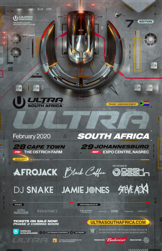 Ultra South Africa 2020 Phase 1 Lineup