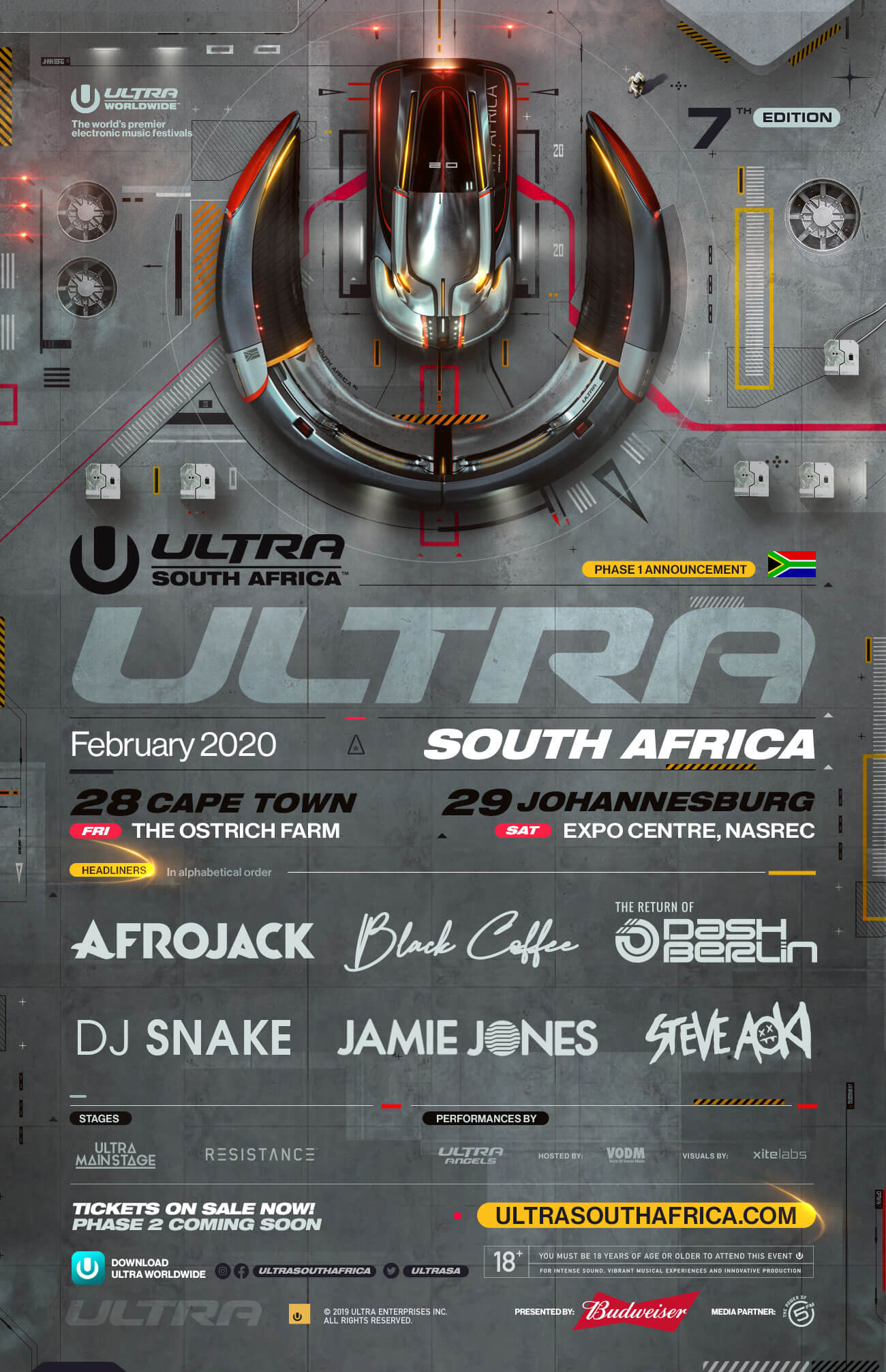 ULTRA South Africa Reveals Phase 1 Lineup