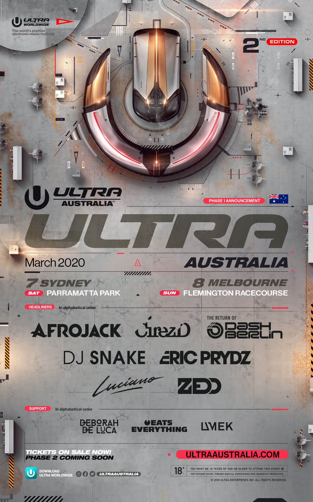 ULTRA Australia Announces Highly-Anticipated Phase 1 Lineup