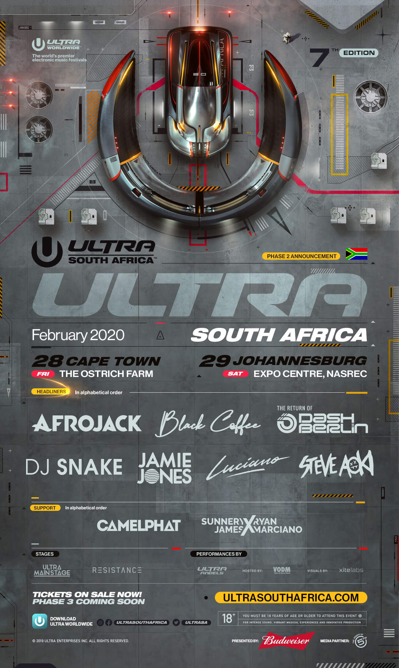 ULTRA South Africa 2020 Announces Phase 2 Lineup