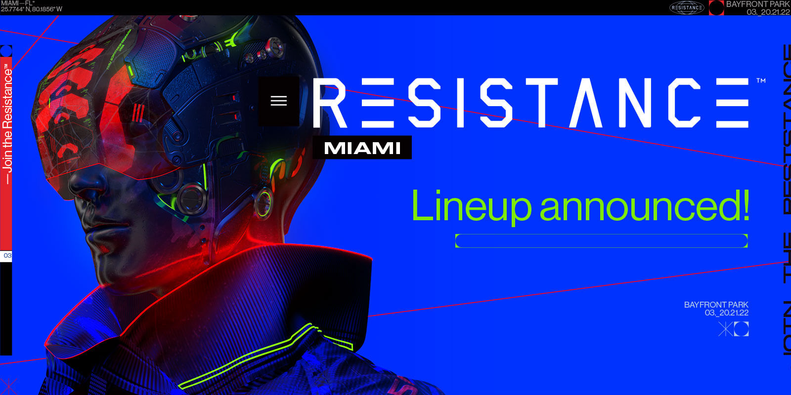 RESISTANCE Miami Announces Phase 1 Lineup