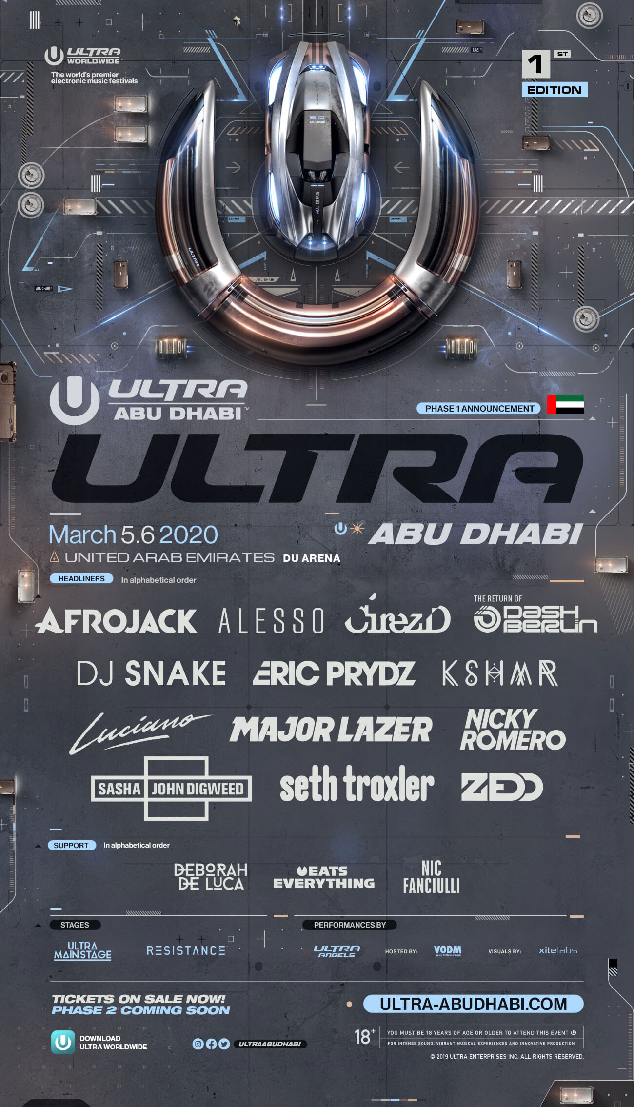 ULTRA Abu Dhabi Announces Highly-Anticipated Phase 1 Lineup