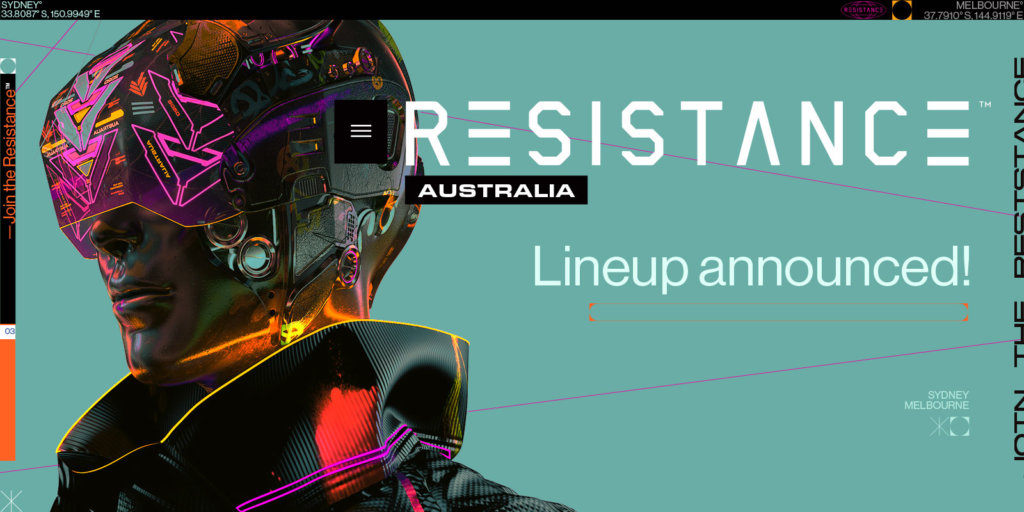 RESISTANCE Australia 2020 Lineup