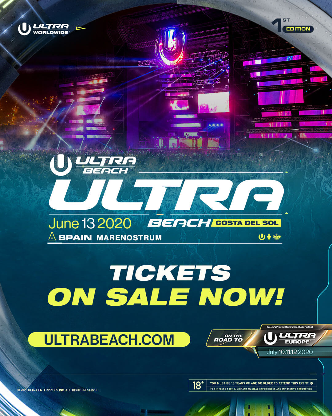ULTRA BEACH Costa del Sol Tickets On Sale