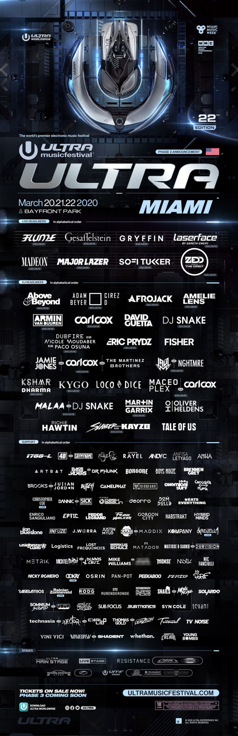 Ultra Music Festival Reveals Phase 2 Lineup