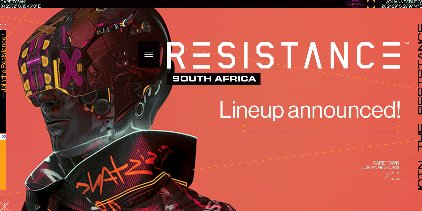 RESISTANCE South Africa Releases Full Lineup